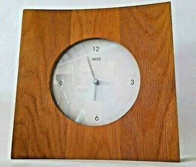 £11.99 • Buy Next Wooden Solid Oak Wall Clock Home Decor Modern Style Design Gifts White Chic