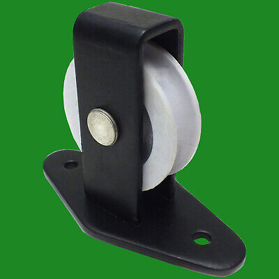 £8.99 • Buy 2x Pulley-Single Upright Black Nylon Wheel For Washing Line Garden Outdoor Rope