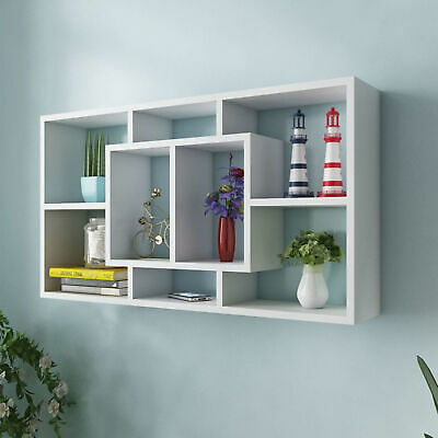 £54.29 • Buy  Wall Display Shelf 8 Compartments White P5H7
