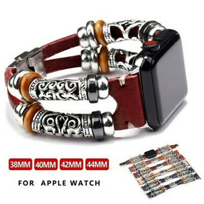 $ CDN7.77 • Buy For Apple Watch Series 5 4 3 2 1 Retro Leather Band Strap IWatch 38/42/40/44mm
