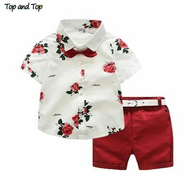 £17.72 • Buy Baby Boys Clothing Sets For Summer Gentleman Suit Two Pieces Short Sleeve Shirt
