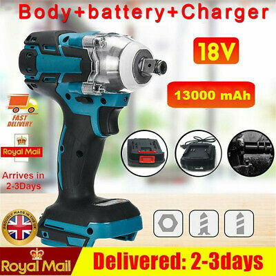 £39.99 • Buy 18V Cordless Impact Wrench Brushless Driver Torque Replace W/ Charger + Battery