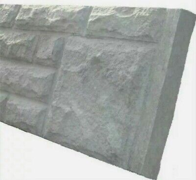 £10 • Buy * REINFORCED ROCK FACE CONCRETE GRAVEL/BARGE BOARD * Home Garden Privacy Fencing