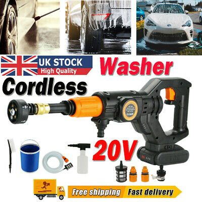 £59.88 • Buy Portable Cordless Pressure Washer Electric High Power Jet Wash Patio Car Cleaner