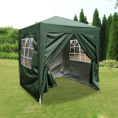 £66.99 • Buy 2x2m Green Pop Up Gazebo Marquee Garden Awning Party Tent Canopy With 4 Sides