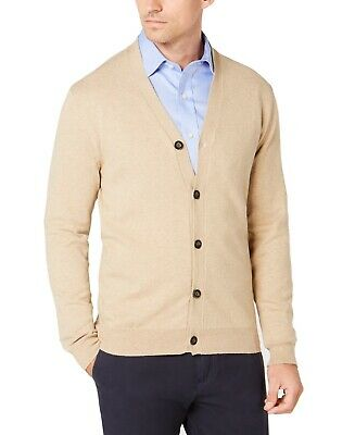 $10.99 • Buy Club Room Mens Sweater Toast Beige Size 2XL Button Down Cardigan $49 #410