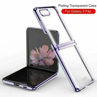 AU25.99 • Buy Electroplate Transparent Shockproof Phone Case Cover For Samsung Galaxy Z Flip