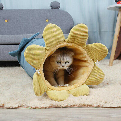 £12.48 • Buy Kittens Cat Collapsible Tunnel Tube Hideout Puppy Soft Bunny Winter Thicken SG