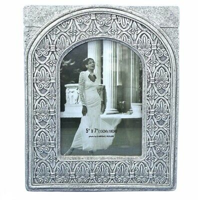 £21.58 • Buy Art Deco Photo Frame Resin Carved Stone Ornate Lotus Flower Wedding Picture 5x7