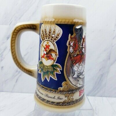 $ CDN31.20 • Buy Anheuser Bush 1987 Vintage Budweiser Clydesdales Stein Collectible