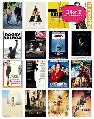 £2.49 • Buy Classic Cult Film Posters, Movie Posters A3 A4 - Free Delivery - 3 For 2