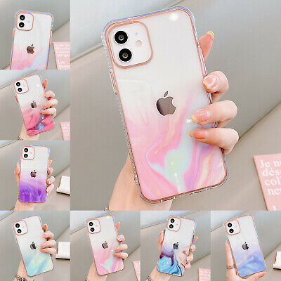 AU8.99 • Buy For IPhone 11 12 Pro Max  XS XR X 8 7 Clear Marble Shockproof Bumper Case Cover