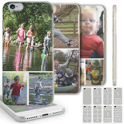 AU20.39 • Buy Personalised Photo Phone Case Custom Collage Clear Hard Cover For Apple/samsung