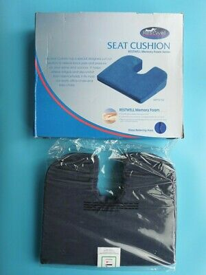 £19.95 • Buy Restwell Memory Foam Series Stress Relieving Wedge Seat Cushion Blue New In Box