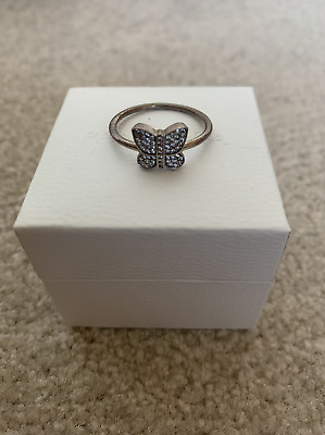 AU40 • Buy Pandora Silver Butterfly Ring Size 60