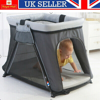 £43.75 • Buy Portable Baby Travel Cot Crib Bassinet Bed Playpen Infants With Mattress Folding