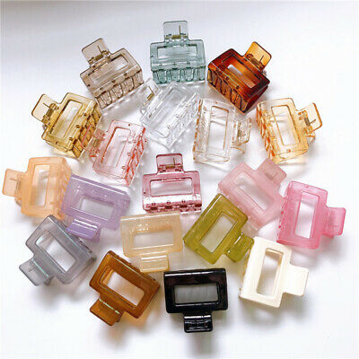 AU2.89 • Buy Women Large Hair Clip Hollow Square Acrylic Resin Plastic Hair Claw Accessories