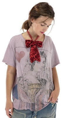 £105.44 • Buy New Ith Tag Magnolia Pearl Queen Of Hearts T Shirt  In Elderberry