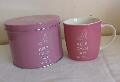 £8.99 • Buy  Keep Calm And Buy Shoes  Pink Mug In A Tin