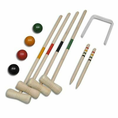 £15.95 • Buy 4 Player Wooden Croquet Set Outdoor Family Garden Lawn Game Childrens Adults