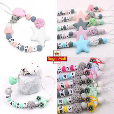 £2.59 • Buy UK Dummy Clips Newborn Baby Pacifier Chain Holder Teething Toys Car/Star Pattern
