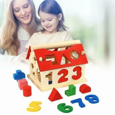 £6.99 • Buy Wooden Puzzle Toys Digital House Shape Sorter Toy Kids Early Educational Game UK