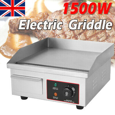 £86.98 • Buy Electric Countertop Griddle Commercial Kitchen Hotplate BBQ Stainless Steel 55cm