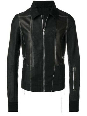 £450 • Buy Rick Owens Leather Patch Jacket