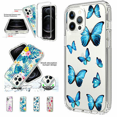 AU9.98 • Buy For IPhone 11 12 Pro Max XS XR X 8 7+ Blue Butterfly Shockproof Flower Cute Case