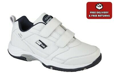 £25.99 • Buy Mens Wide Fit Trainers Mens Leather Trainers Extra Large Sizes 13-15 (E Fitting)