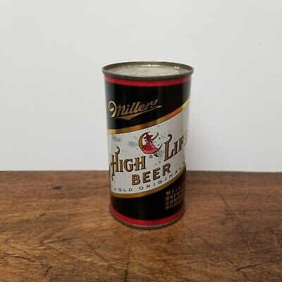 $60 • Buy Vintage Miller High Life Lady On The Moon Flat Top Steel Champagne Can Milwaukee