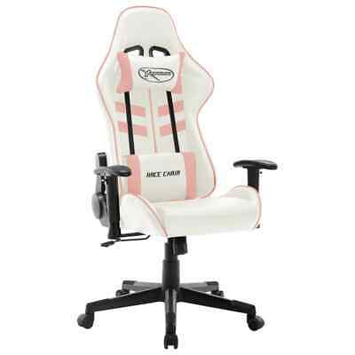 AU214 • Buy Gaming Chair White And Pink Artificial Leather