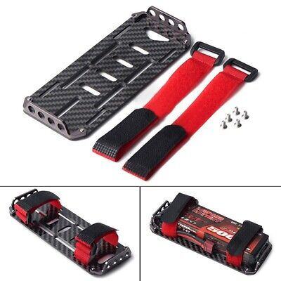 £9.86 • Buy Carbon Battery Fiber Mounting Plate Tray For 1/10 RC Car Axial SCX10 Part UK