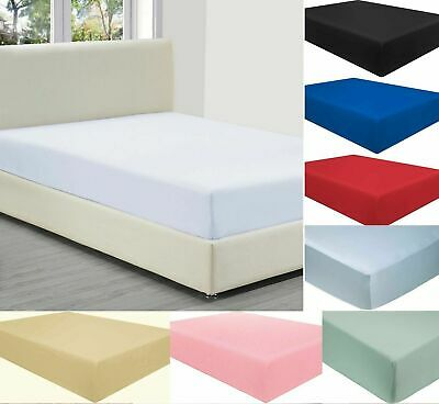 £7.49 • Buy 40CM EXTRA DEEP Fitted Sheet Bed Sheets For Mattress Single Double King Size
