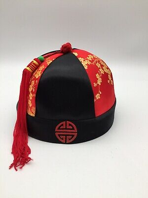 £19.95 • Buy Genuine Childs Chinese Hat With Tassel Fancy Dress Oriental Size 6 1/2