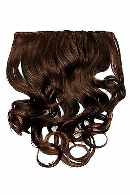 $10.69 • Buy Clip-In Extension Hair Wide Back Of The Head 5 Clip Curly Braun Mahogany