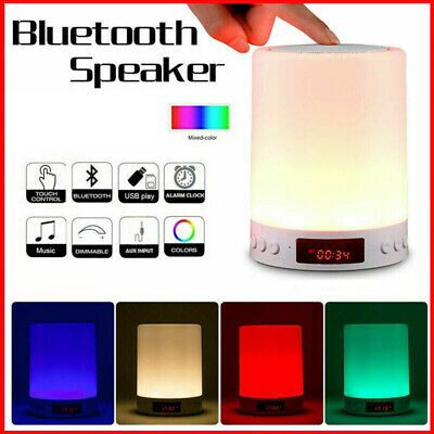 AU23.90 • Buy Bluetooth Speaker Lamp Touch Night Light Bedside Table Lamp With Alarm Clock FM