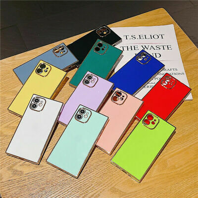 AU12.99 • Buy Luxury Square Plating Phone Case Cover For IPhone 11 12 Pro Max XS 7 8 Plus XR