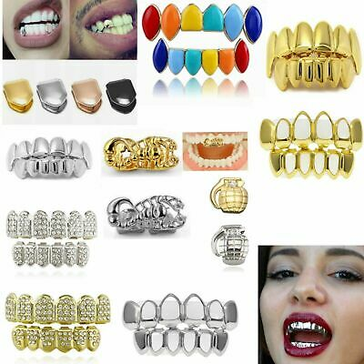 £3.40 • Buy Tooth Hip Hop Grills Teeth Cap 24K Plated Top Bottom Grill Punk Bling UK 2021