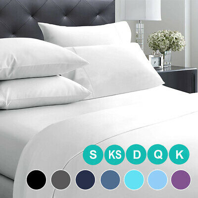 AU27.99 • Buy 2000TC Ultra Soft Deep Fitted Bed Sheet Set Pillowcases Single/Double/Queen/King