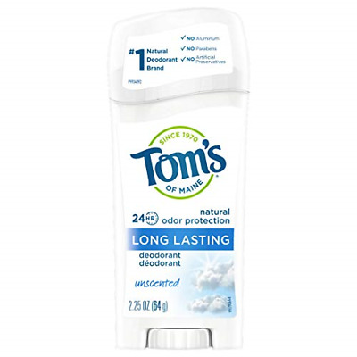 £11.84 • Buy Tom's Of Maine Natural Long-Lasting Deodorant, Unscented, 64g