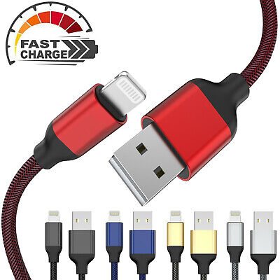 £2.99 • Buy Heavy Duty Fast USB Charger Long Data Cable Wire Lead For Apple IPhone/iPad/iPod