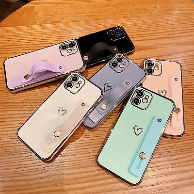 AU9.23 • Buy Cute Heart Love Soft Plating Case Shockproof For IPhone 11 12 Pro Max XS XR 7+ 8