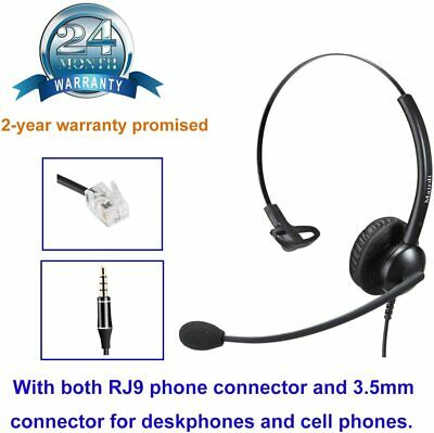 £15 • Buy Mairdi Telephone Headset With Noise Cancelling Microphone, Call Center Office He