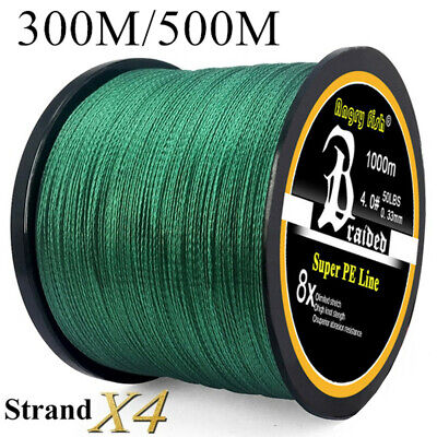AU14.01 • Buy Super Strong PE  Braided Fishing Line 4 Strands 300/500M 12-100LB Fishing Wire