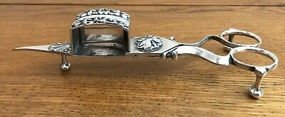 £30 • Buy Victorian Silver Plated Candle Snuffer Scissors, Wick Cutter