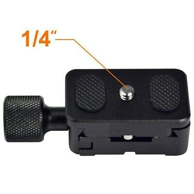 £9.12 • Buy AS Quick Release Plate Clamp For Tripod Arca Swiss BENRO RRS With 1/4 Screw