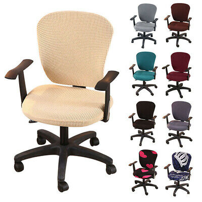 AU17.03 • Buy Chair Cover Office Computer Seat Protector Split Stretch Armchair Slipcover