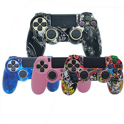 AU14.59 • Buy Graffiti Art Paint PS4 Controller Cover Skin Protective Rubber For PlayStation 4