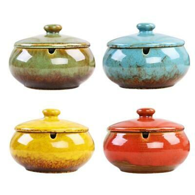 £9.79 • Buy Ceramic Ashtray With Lids Windproof  Cigarette Ashtray For Indoor Or Outdoor Use
